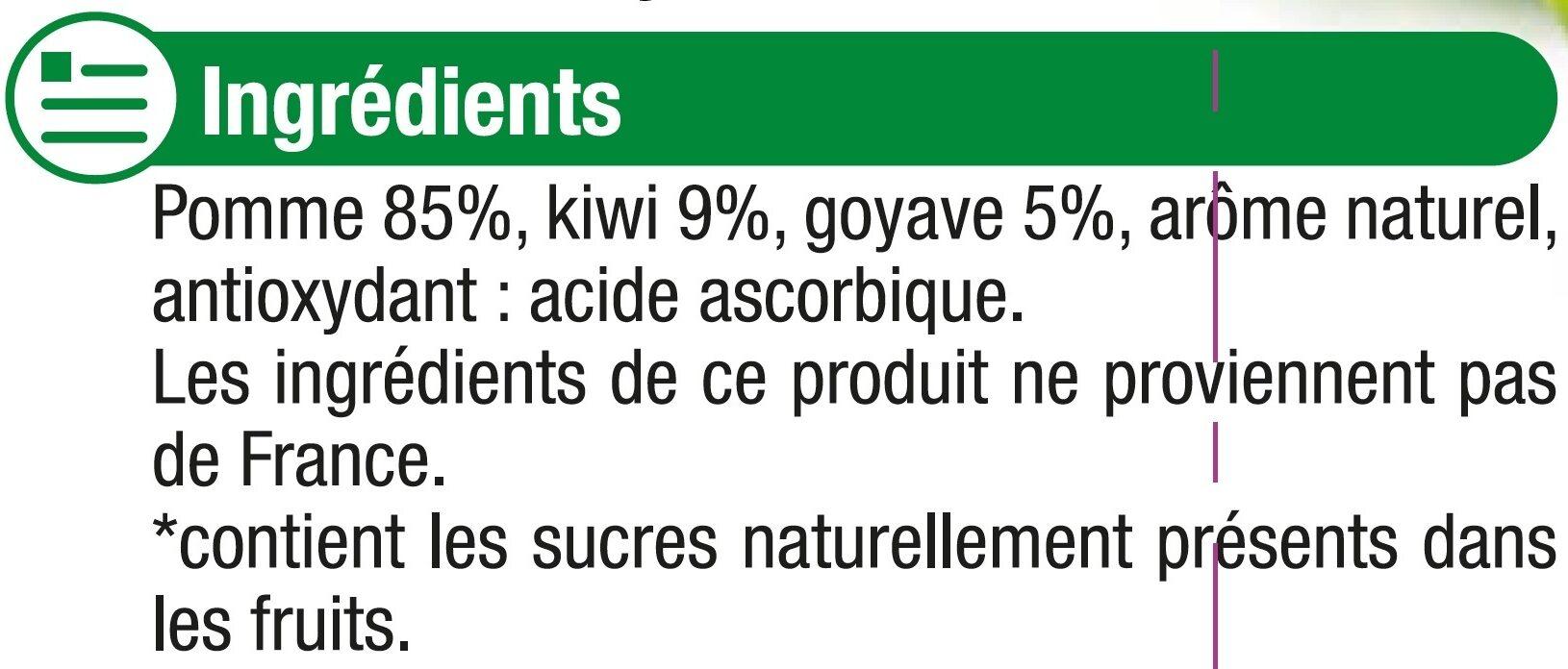 Gourdes pomme kiwi goyave sans sucre ajouté - Ingredienti - fr