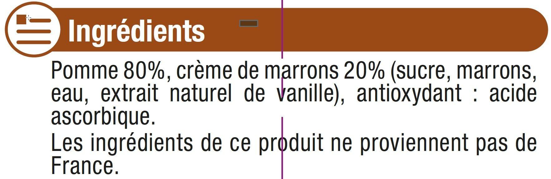 Gourdes pommes châtaignes - Ingrédients - fr