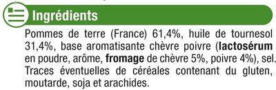 Chips ondulées saveur chèvre poivre - Ingredienti - fr