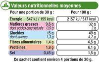 Chips ondulées saveur chèvre poivre - Valori nutrizionali - fr