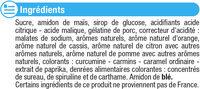 Langues acides - Ingrediënten - fr