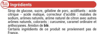 Assortiment cola qui piquent - Ingrediënten - fr