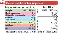 Assortiment cola qui piquent - Voedingswaarden - fr
