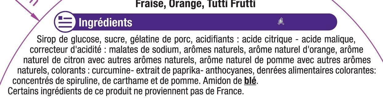 Assortiment gélifiés aromatisés qui piquent - Ingrédients - fr