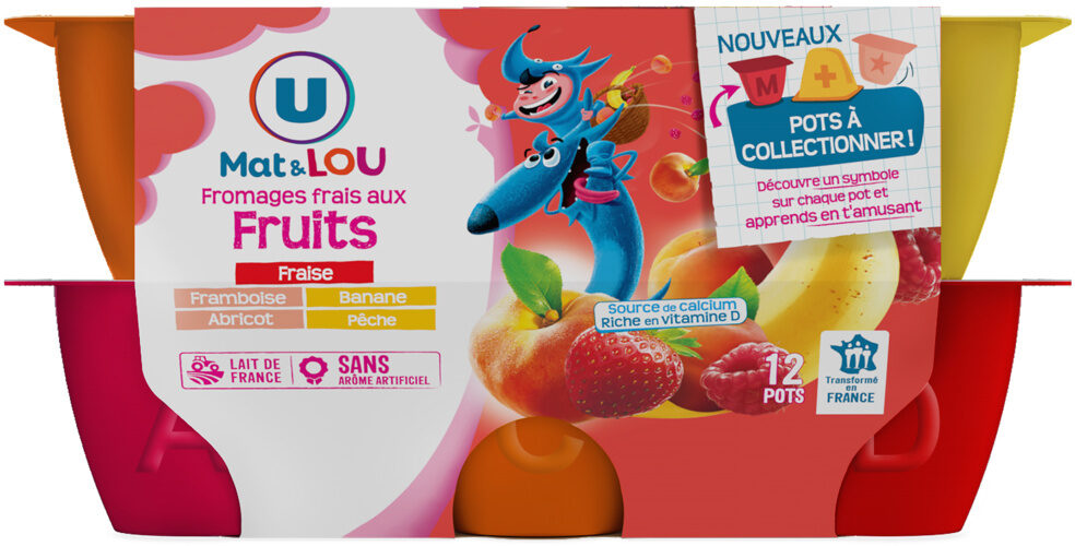 Fromage frais au lait pasteurisé sucré aux fruits 2% deMG - Produit - fr