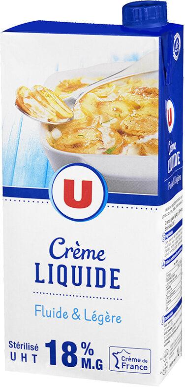 Crème UHT liquide 18% de MG - Produit - fr