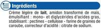 Crème UHT liquide 18% de MG - Ingrédients - fr