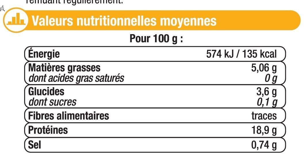 Emincés de volaille cuits kebab - Informations nutritionnelles - fr