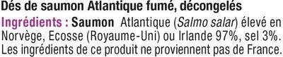 Dés de saumon fumé nature - Ingrediënten - fr