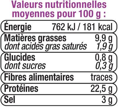 Dés de saumon fumé nature - Voedingswaarden - fr