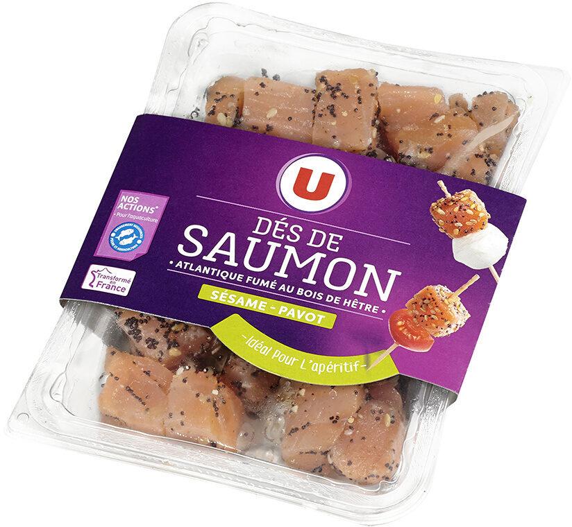 Dés de saumon fumé sésame et pavot - Produit - fr