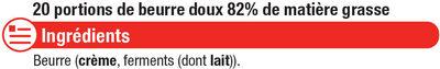 Mini beurre doux 82% de MG - Ingredients