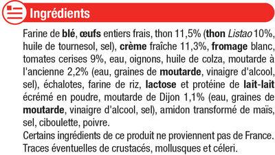 Tarte au thon tomates et moutarde à l'ancienne - Ingrédients