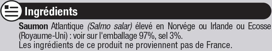 Saumon Atlantique fumé - Ingrediënten
