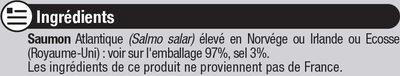 Saumon Atlantique fumé - Ingrediënten - fr