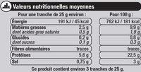 Saumon Atlantique fumé - Voedingswaarden - fr