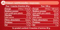 Saumon Atlantique fumé Ecosse - Nutrition facts