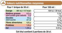 Velouté potiron châtaignes - Informations nutritionnelles - fr