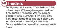 Velouté de Légumes du Soleil - Ingrediënten