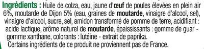 Mayonnaise à la moutarde de Dijon - Ingredients