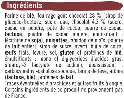 Briochettes fourrées pocket goût Chocolat - Ingrédients - fr