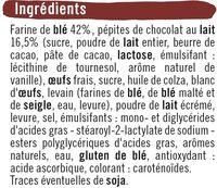 Briochettes pépites chocolat au lait - Ingrédients - fr