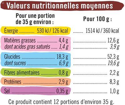 Briochettes pépites de chocolat lait - Informations nutritionnelles - fr