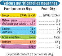 Fromage blanc fondu au lait pasteurisé 30%MG - Informations nutritionnelles - fr