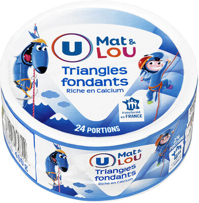 Fromage pasteurisé triangles fondants fromagers 5%mg - Produit - fr
