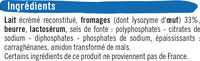 Fromage pasteurisé triangles fondants fromagers 5%mg - Ingrédients - fr