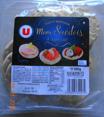 Toast moelleux, Mini Suédois, à tartiner - Product