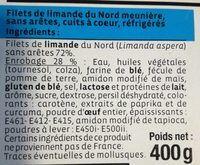 Filet de limande du Nord meunière - Ingredients