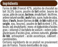 Pains au lait aux pépites de chocolat au lait - Ingrédients - fr