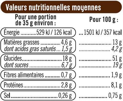 Pains au lait aux pépites de chocolat au lait - Informations nutritionnelles - fr