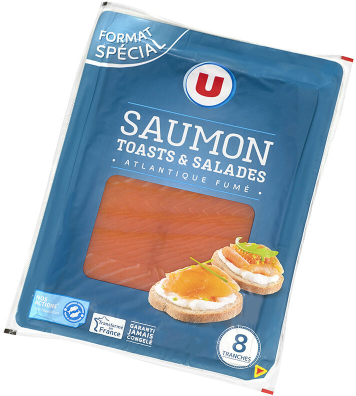 Saumon fumé Atlantique Toasts et salades - Produit