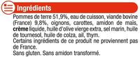 Assiette hachis parmentier 12 mois - Inhaltsstoffe - fr