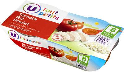 Bols tomate, riz & poulet 8 mois - Produit - fr