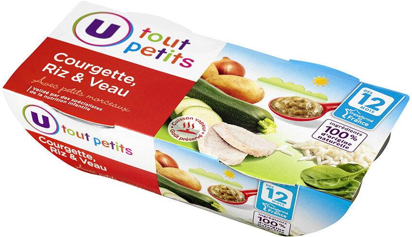 Bols courgette-riz et veau dès 12 mois - Product