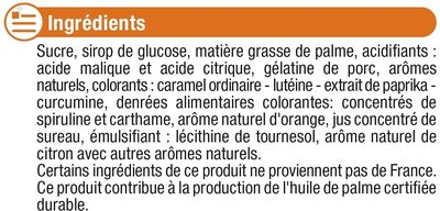Bonbons tendres acides - Ingredients
