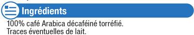 Café torréfié et moulu expresso décaffeinato - Ingredients - fr