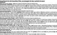 Plateau Asiatique 14 Pièces + Sauces - Ingredients