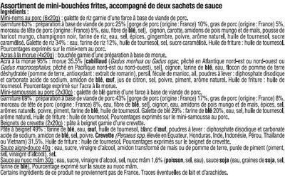 Plateau Asiatique 14 Pièces + Sauces - Ingrédients - fr
