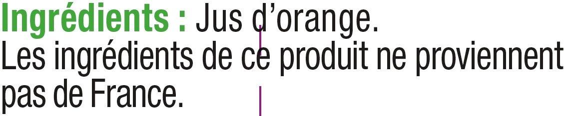 Pur jus d'orange sans pulpe - Ingredients - fr