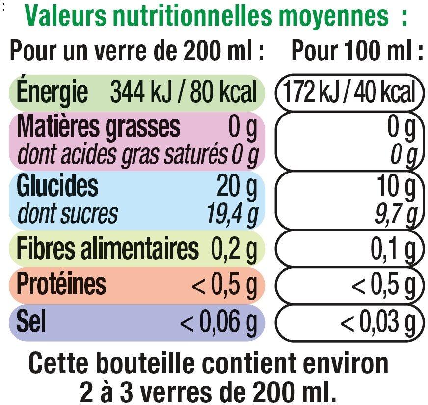 Pur jus de pomme - Informations nutritionnelles