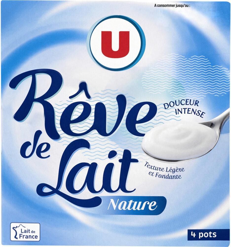 Spécialité laitière fermentée nature rêve de lait - Product - fr