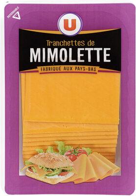 Fromage de Hollande à pâte pressée en tranches Mimolette au lait pasteurisé 24% de MG - Prodotto - fr