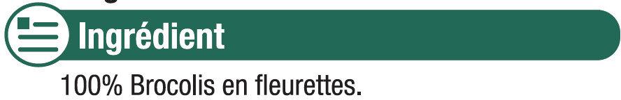 Brocolis fleurettes précuits vapeur - Ingredients - fr