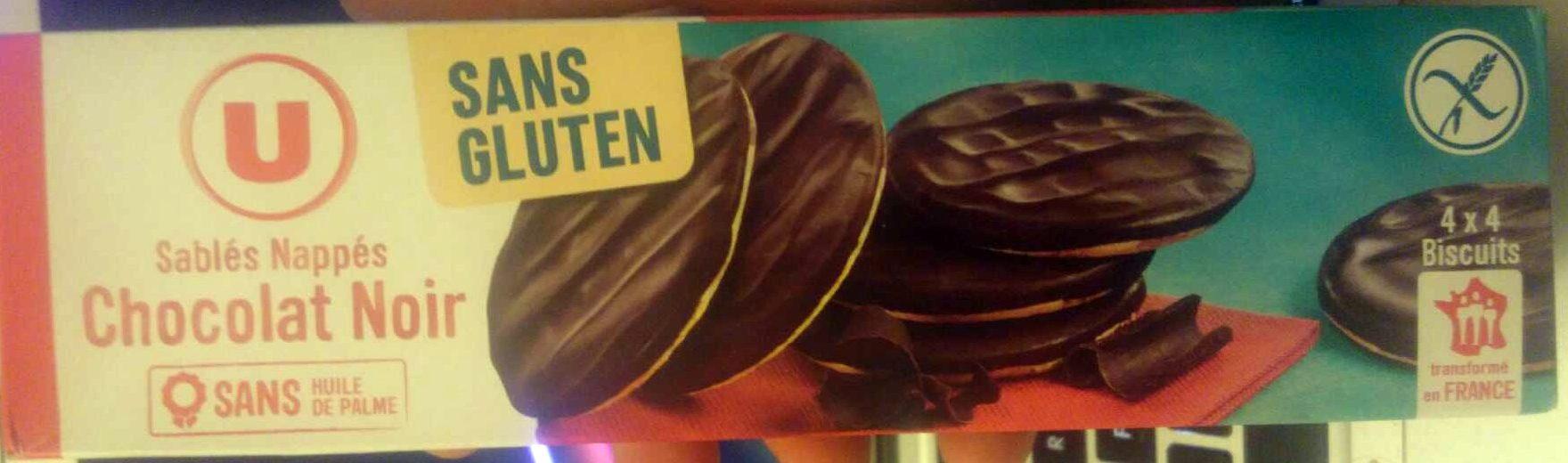 Sablés nappés chocolat noir - Product - fr