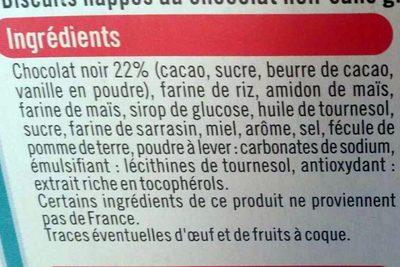 Sablés nappés chocolat noir - Ingredients - fr