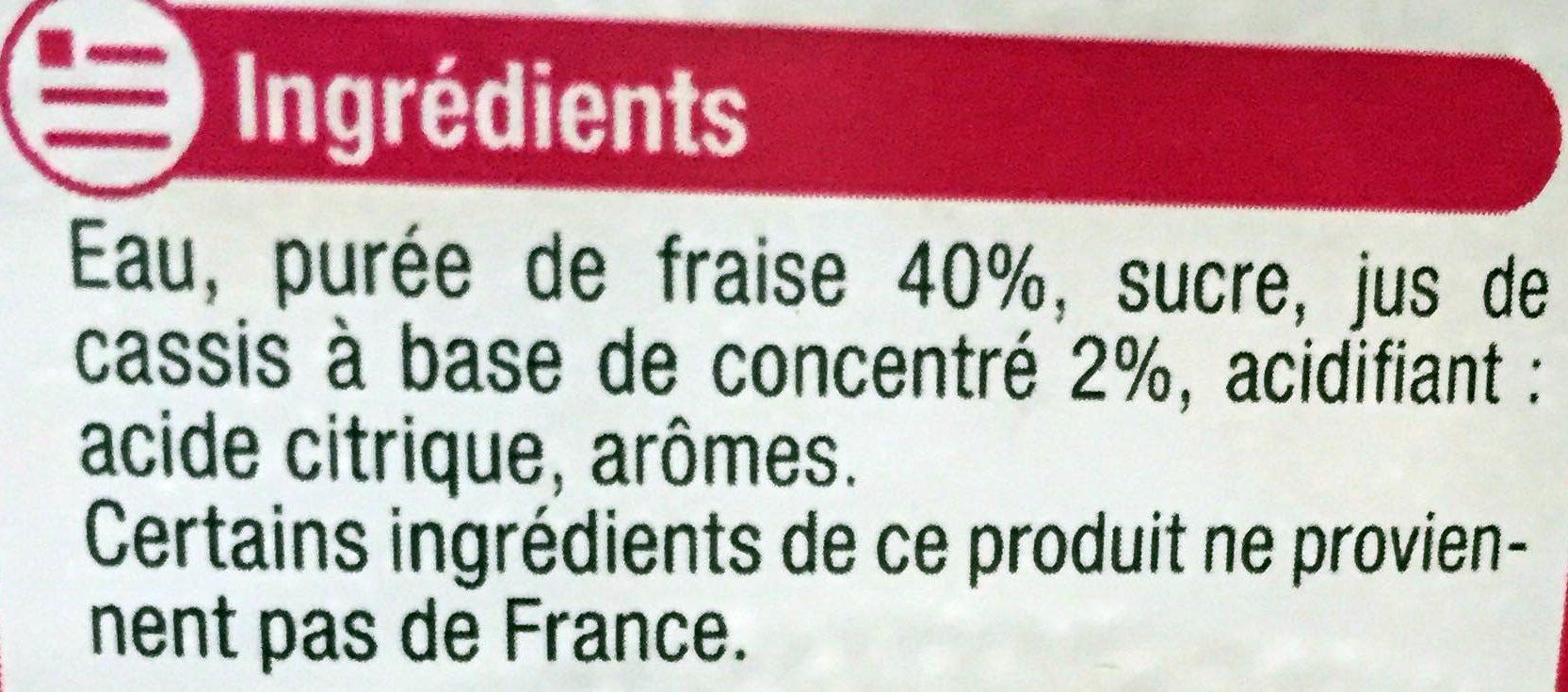 Fraise façon fraisier édition limitée - Ingredients - fr
